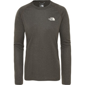The North Face Reaxion Amp LS Crew Women New Taupe Green Heather